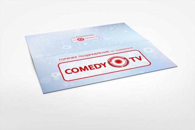 новогодняя открытка COMEDY TV 2012